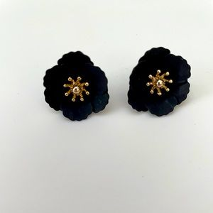 Antropologie black and gold post earrings